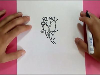 Como dibujar una rosa paso a paso 7 | How to draw a rose 7