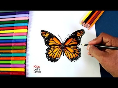 Cómo dibujar y pintar una Mariposa | How to draw and paint a Butterfly - 1.20