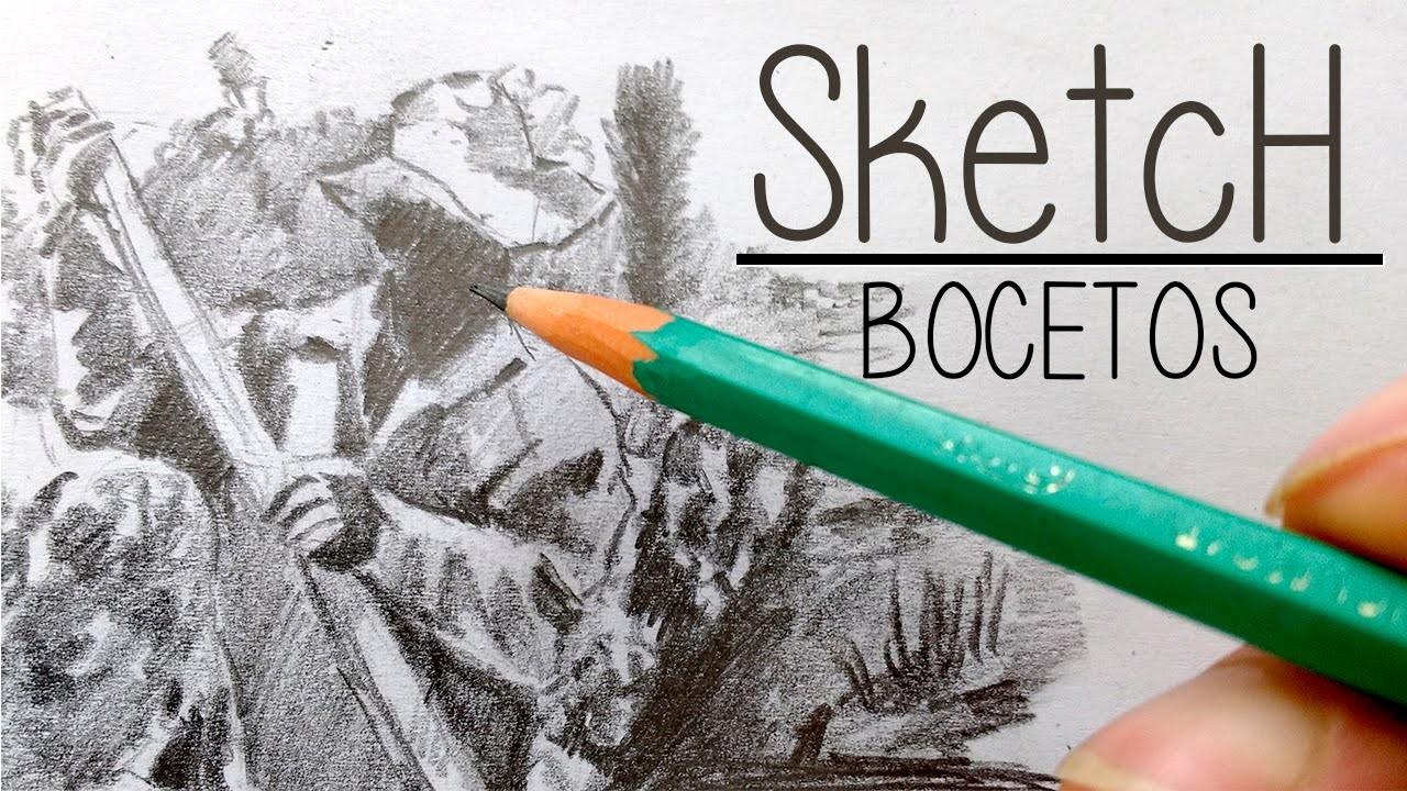 Como hacer bocetos o sketch con lapiz