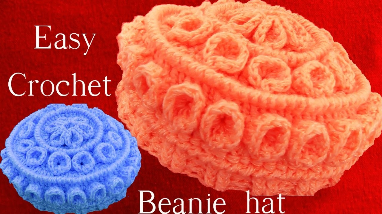 9fd75d8912918 Como hacer Gorro Boina tejido a Crochet o Ganchillo con relieves en capas
