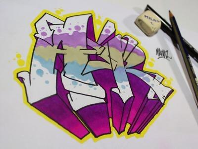 Como hacer letras graffiti fácil y sencillo - Tutorial