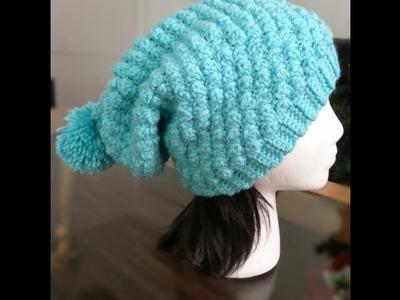 Como tejer a Crochet gorro en punto burbuja