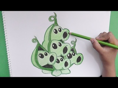 Dibujando paso a paso a Vaina (Plantas vs Zombies 2) - Step by step drawing Pod