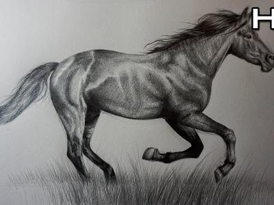 Dibujo de un Caballo Realista a Lápiz
