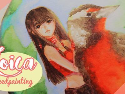♡ LOICA - Speedpainting (Técnica mixta) ♡ Painting process By Piyoasdf
