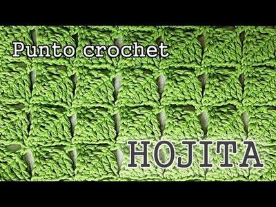 Punto fantasia crochet en forma de Hojita