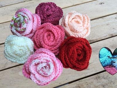 Rosas tejidas a crochet paso a paso muy facil