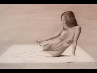 Sorprendente dibujo anamórfico en 3D de una mujer - Arte Divierte.