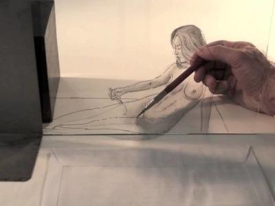 Sorprendente dibujo en 3D: Figura femenina - Arte Divierte