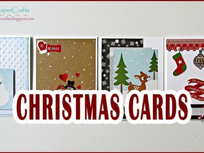 4 Tarjetas Navideñas hechas a mano | Ideas para regalar en Navidad | Tutorial DIY Luisa PaperCrafts