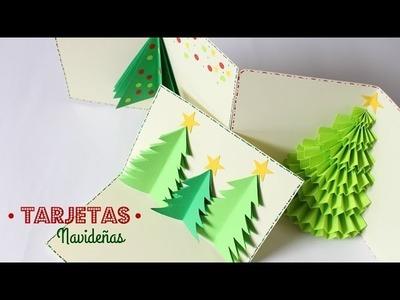 Cartas.Tarjetas de Navidad Estilo Pop Up | Fáciles y Bonitas
