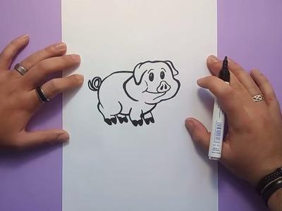 Como dibujar un cerdito paso a paso 3 | How to draw a piglet 3