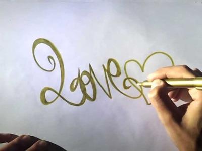 Como dibujar un graffiti de amor
