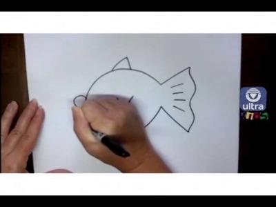 Como dibujar un pez de caricatura