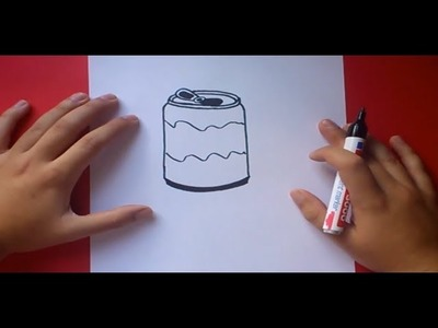 Como dibujar una lata de refresco paso a paso | How to draw a can of soda