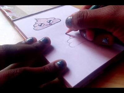 Como dibujar una popo kawaii