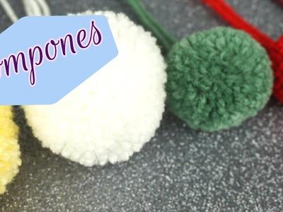 Como hacer pompones .diy. how to make pom poms easy