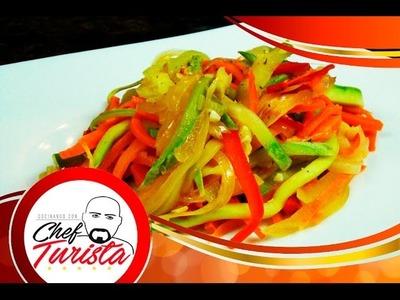 Como hacer una deliciosa ensalada de vegetales salteados