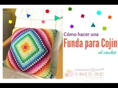 Cómo hacer una funda para cojín con un granny square a crochet
