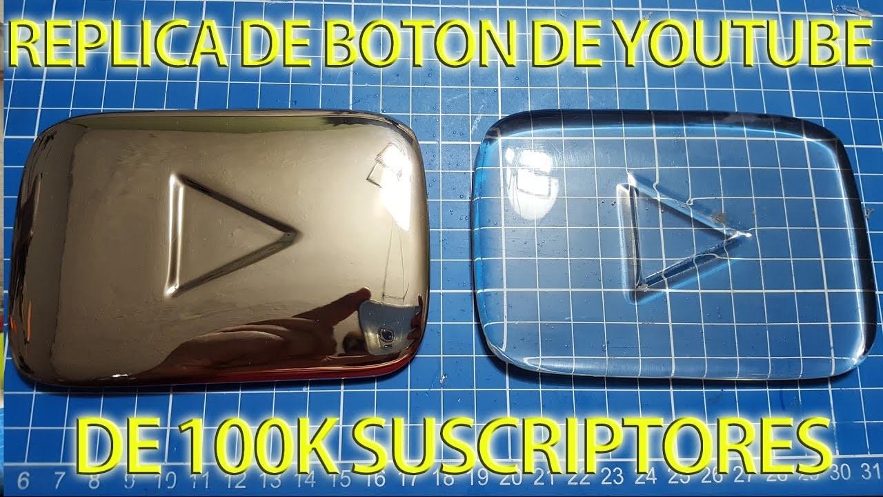 Como hacer una replica del boton de 100mil subs de Youtube transparente | NQUEH