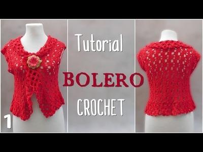 Como tejer bolero a crochet en varios talles (1.2)