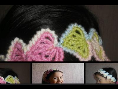 Cordon-tiara-diadema-vincha en crochet punto fantasia