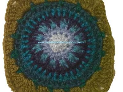 Crochet paso a paso granny square cuadrado nº13