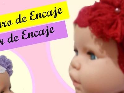 DIY.Aprenda a hacer GORRO E FLOR DE ENCAJE