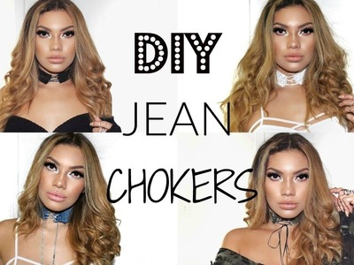 DIY JEAN CHOKERS - COMO HACER GARGANTILLAS DE JEAN!