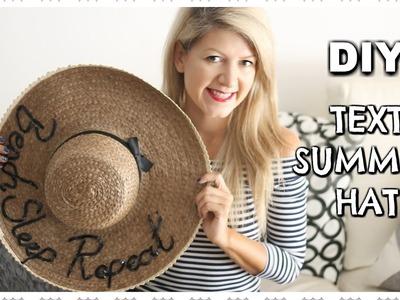 DIY Text Summer Hat | Sombrero de playa | Tutorial by AgasuitcaseTV