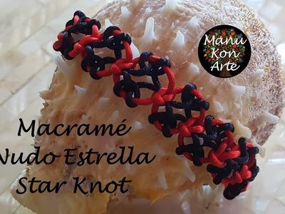 DIY Tutorial Pulsera de Macramé Nudo Estrella.Star Knot Bracelet