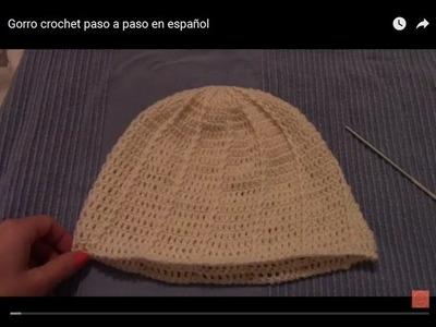 Gorro crochet paso a paso en español