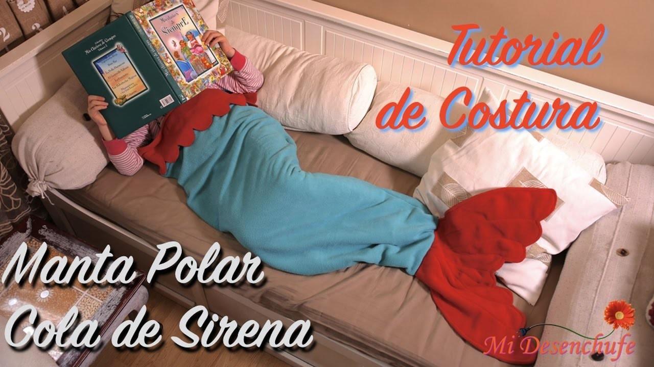 Manta Polar Cola de Sirena -How to make mermaid tail fleece blanket