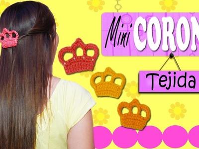 Mini Corona tejida a crochet | paso a paso