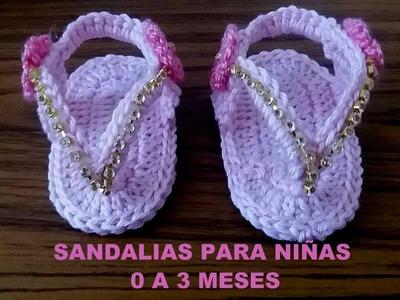 SANDALIAS DE NIÑA DE 0 A 3 MESES