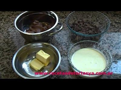 Tarta Tofi de Dulce de leche y Ganache de Chocolate - Recetas de Tortas YA!