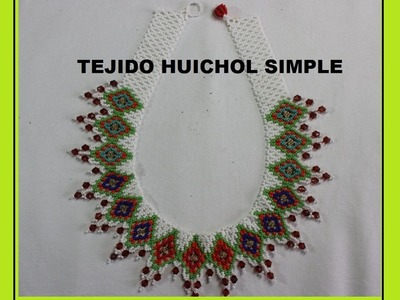 TEJIDO HUICHOL SIMPLE COLLAR EN MOSTACILLA 2