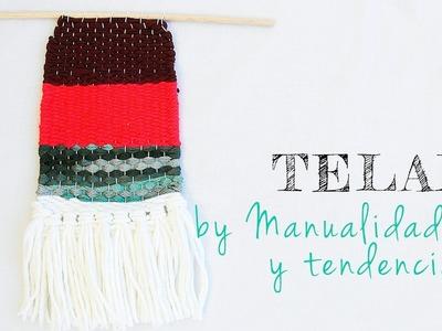 Tutorial DIY club - Cómo hacer mini tapiz con telar de madera