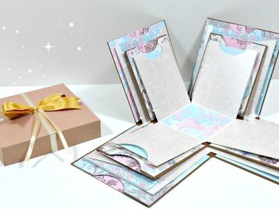 TUTORIAL: Exploding Box grande | Mini álbum | Scrapbooking