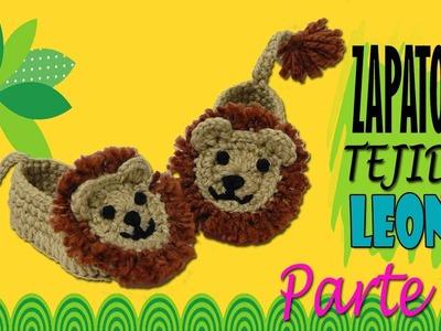 Zapatitos de león tejidos a crochet  | parte 2.2