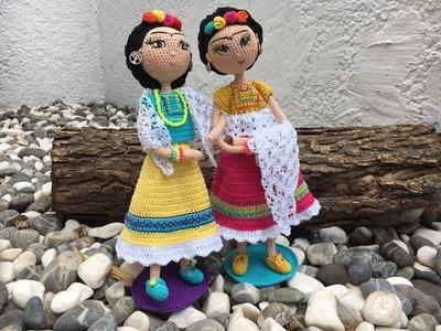 Como tejer muñeca Frida amigurumi By Petus Ochoa TERCERA PARTE (3.9)