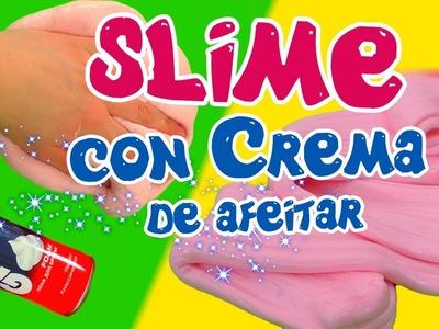DIY Fluffy Slime con Espuma de afeitar (Crema de afeitar). COMO HACER SLIME CASERO Sin Borax