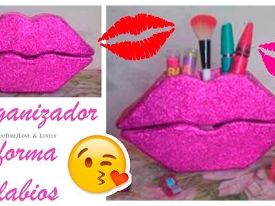 DIY| Haz una cajita en forma de labios | Organizador lindo y fácil | Yaqui Mejia |