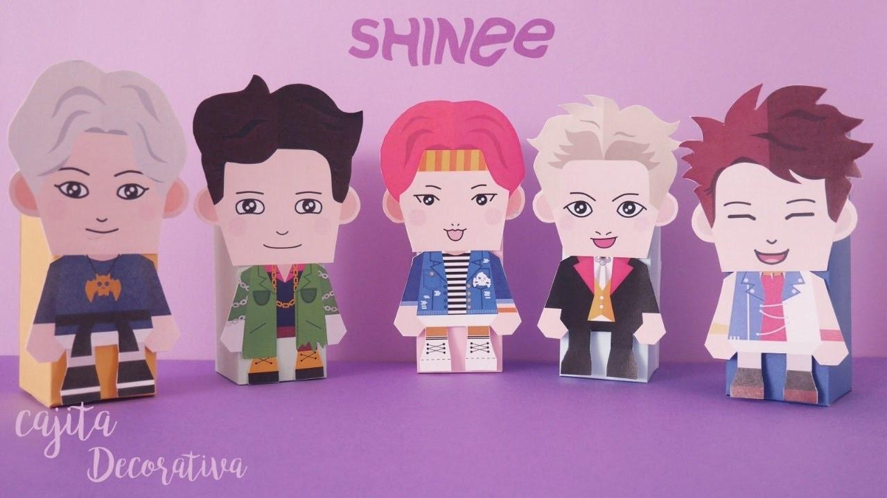 DIY K-POP : Haz tu propia Cajita decorativa de SHINee  (paper toy)