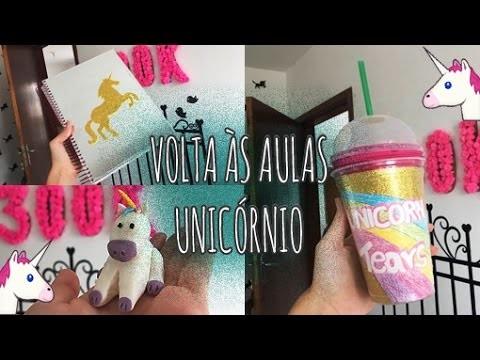 DIY MATERIAL MÁGICO DE UNICÓRNIO | Back to School Unicorn. Ft: Eduardo Wizard
