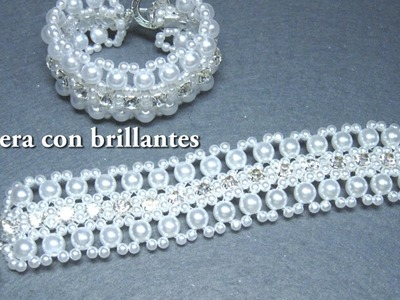 DIY - Pulsera con brillantes 2ª parte DIY - Bracelet with brilliants 2nd part