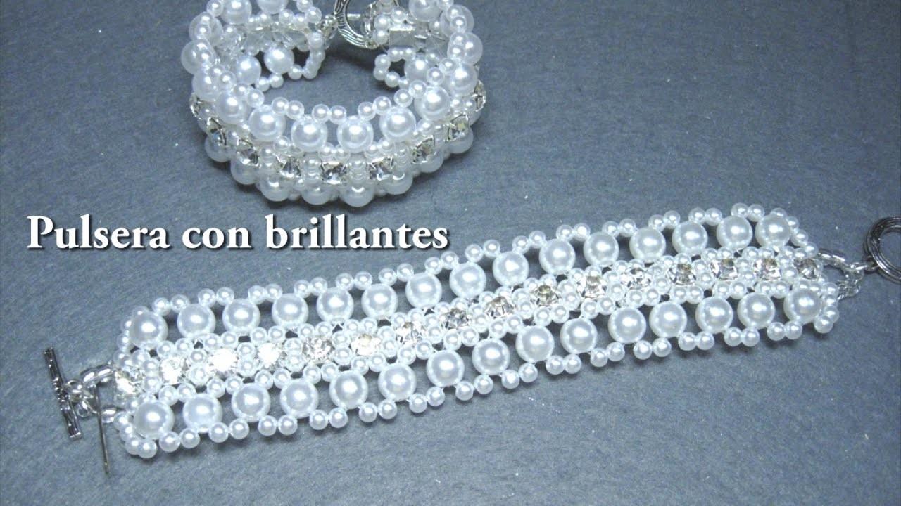 DIY - Pulsera con brillantes 2ª parte DIY - Bracelet with brilliants 2nd part
