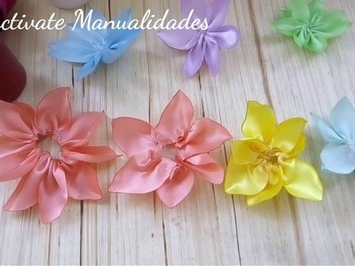 Flores de liston quemado.ribbon fowers.Tutoriales.Manualidades.creaciones.Creactivate Manualidades