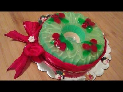 Gelatina Corona Navideña. Gelatina para Navidad. Postre Navideño. Christmas Jello