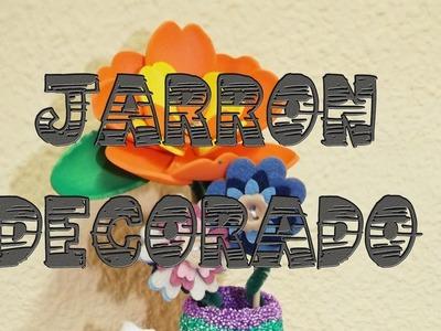 Jarrón decorado con masa flexible - Manualidades para niños || La Casita de Gominolas